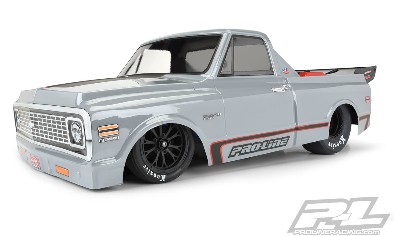 1972 Chevy C-10 Clear Body for Slash 2wd Drag Car & AE DR10 (with trimming)-1