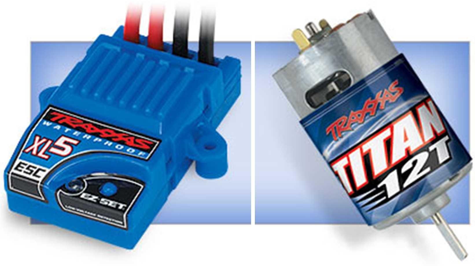 XL-5 waterdichte ESCTitan 12-turn motor