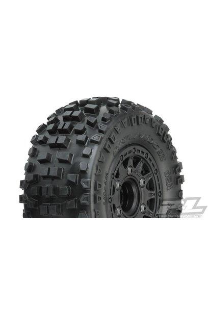 "Badlands SC 2.2""/3.0"" All Terrain Tires Mounted on Raid Black"