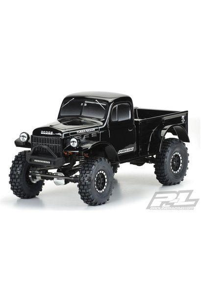 "1946 Dodge Power Wagon Tough-Color (Black) Body for 12.3"" (313mm) Wheelbase Scale Crawlers"