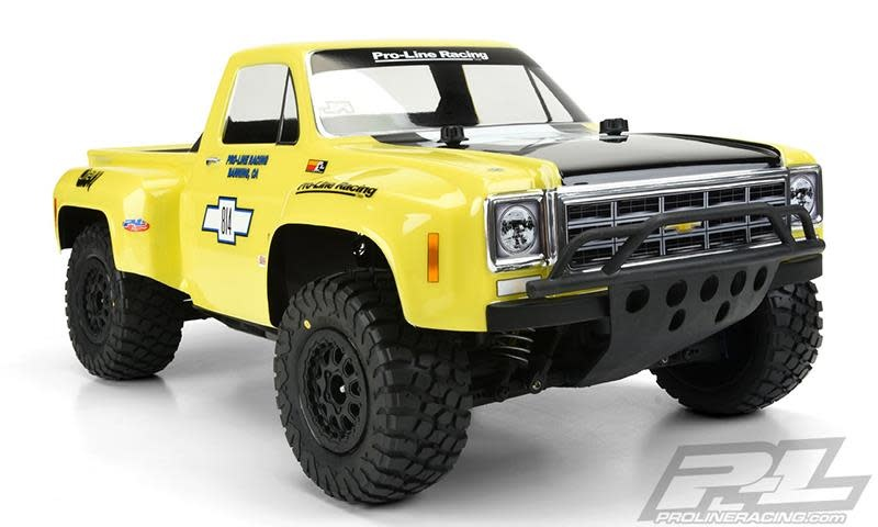 1978 Chevy C-10 Race Truck Clear Body for SC-1