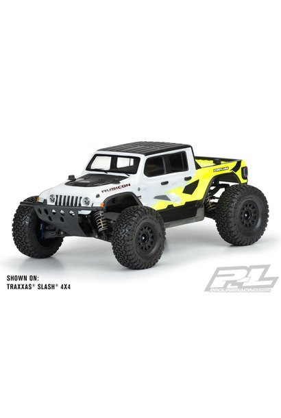 Jeep® Gladiator Rubicon Clear Body for Slash® 2wd/4x4 (with LCG chassis & extended body mounts), ARRMA Senton 3S (W/O side guards), E-REVO® 2.0 (with extended body mounts) & PRO-Fusion SC 4x4