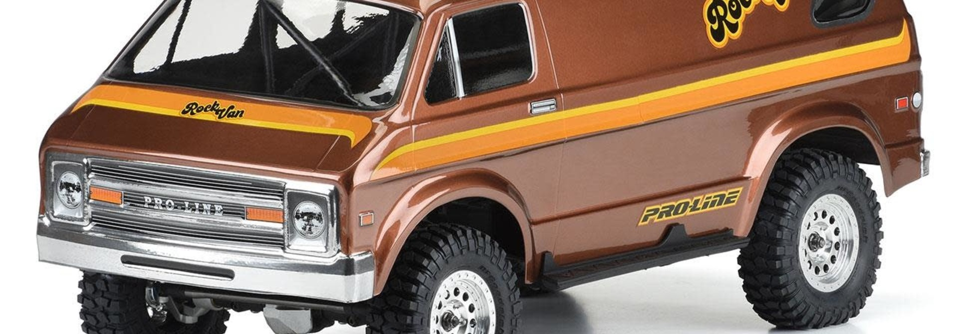 """'70s Rock Van Clear Body for 12.3"""" (313mm) Wheelbase Scale Crawlers"""
