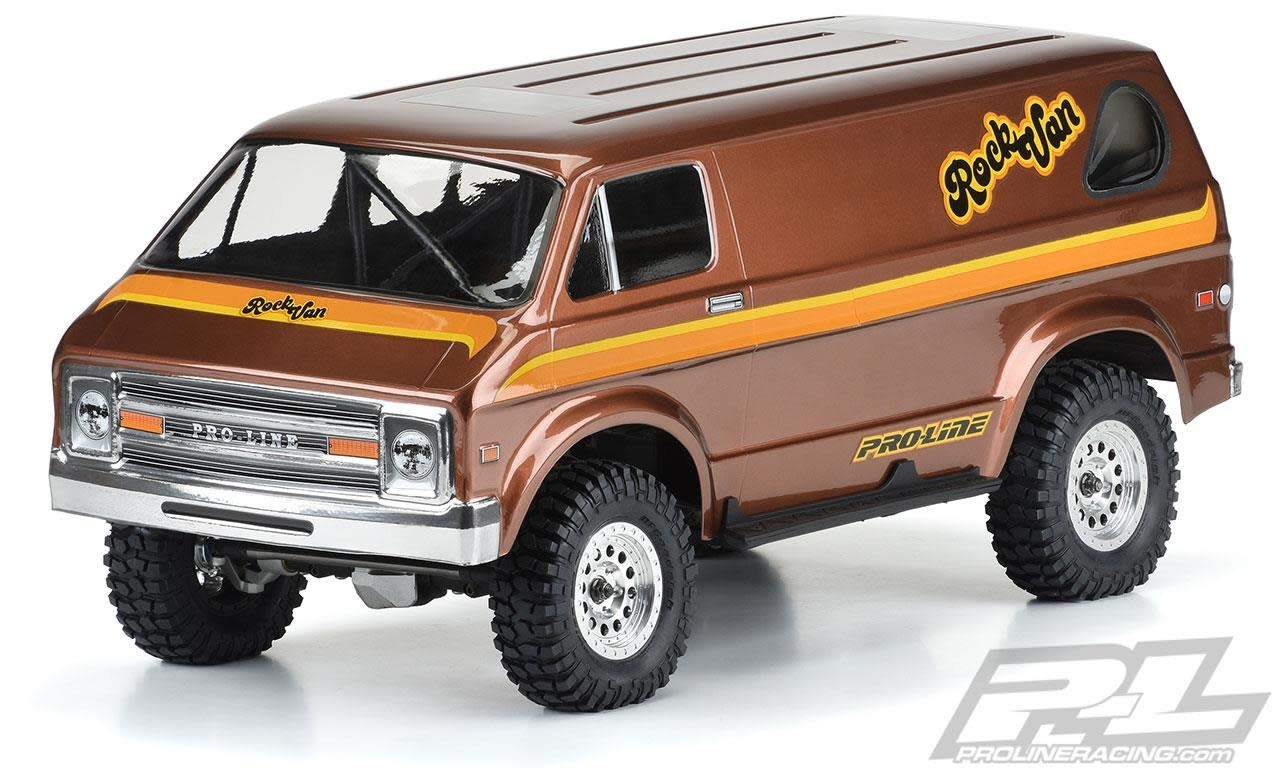 """'70s Rock Van Clear Body for 12.3"""" (313mm) Wheelbase Scale Crawlers-1"""