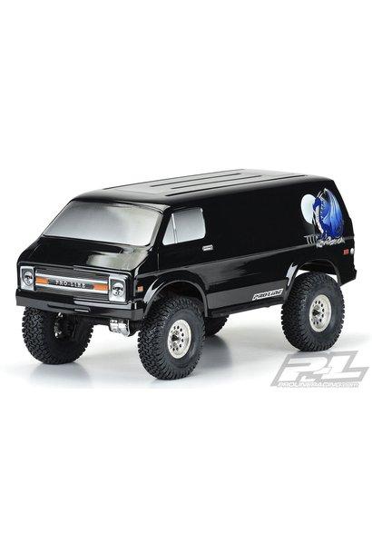 "'70s Rock Van Tough-Color (Black) Body for 12.3"" (313mm) Wheelbase Scale Crawlers"