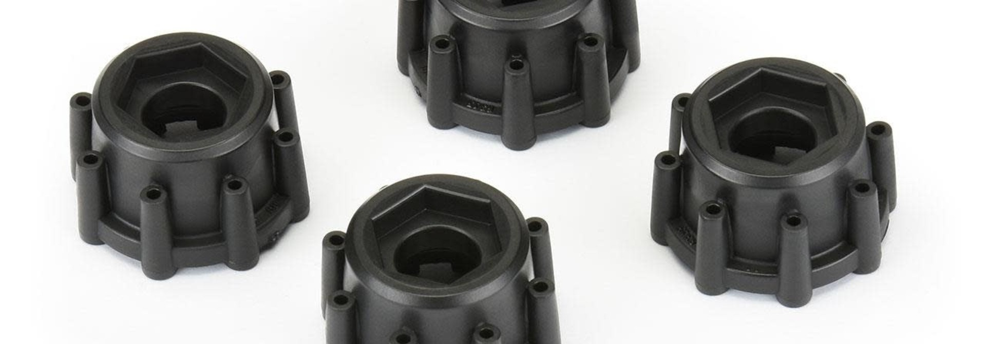 """8x32 to 17mm Hex Adapters for 8x32 3.8"""" Wheels"""