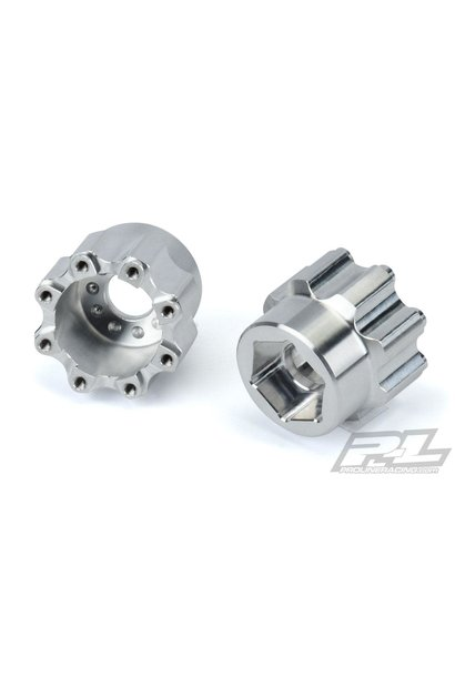 """8x32 to 20mm Aluminum Hex Adapters for Pro-Line 8x32 3.8"""" Wheels"""