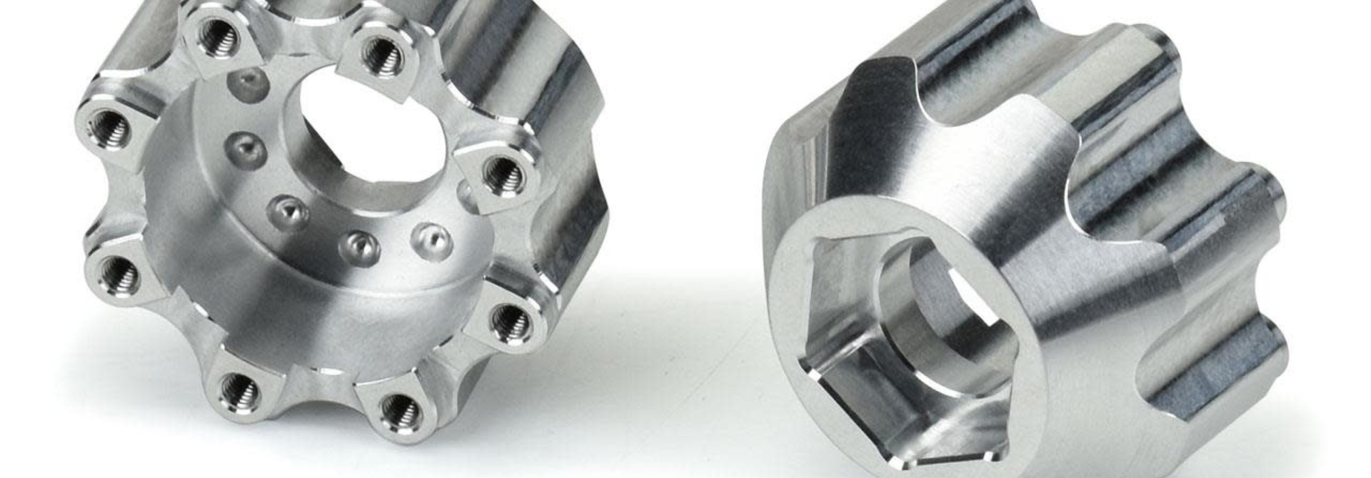 """8x32 to 17mm 1/2"""" Offset Aluminum Hex Adapters"""