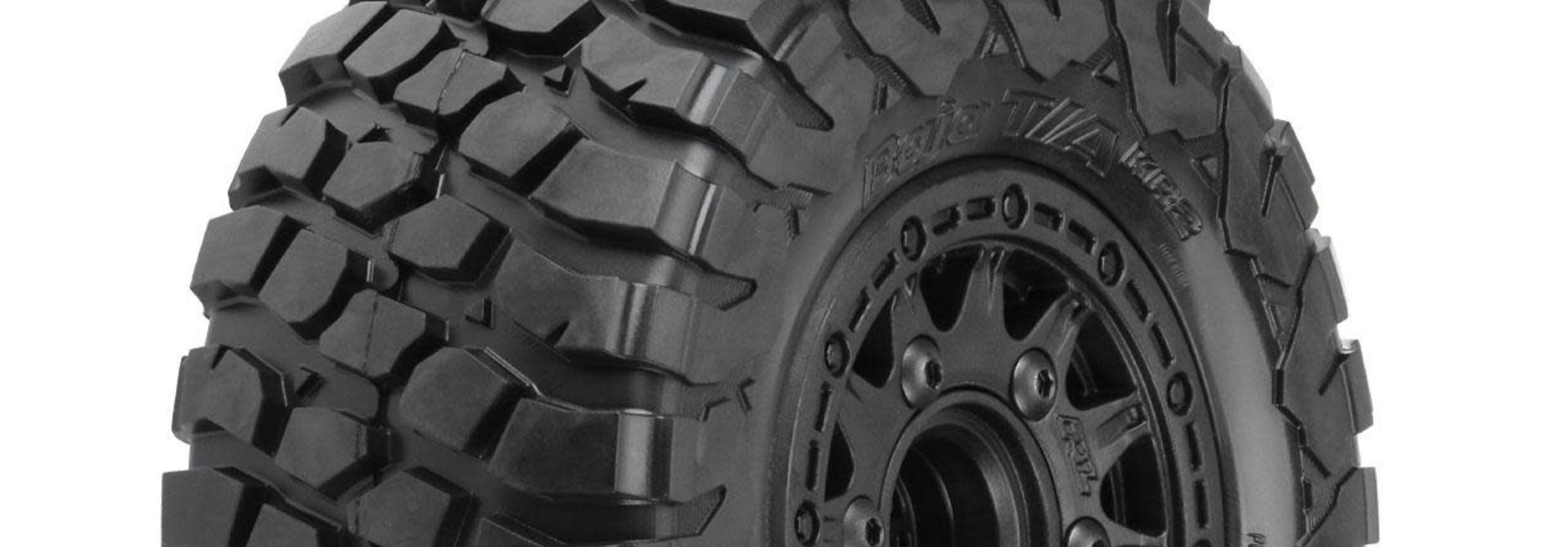 "BFGoodrich Baja T/A KR2 SC 2.2""/3.0"" M2 (Medium) All Terrain Tires Mounted on Raid Black, PR10123-10"
