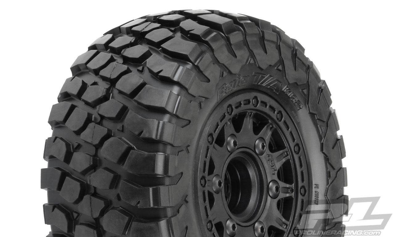"BFGoodrich Baja T/A KR2 SC 2.2""/3.0"" M2 (Medium) All Terrain Tires Mounted on Raid Black, PR10123-10-1"