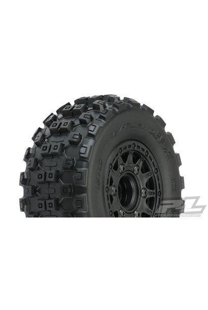 "Badlands MX SC 2.2""/3.0"" M2 (Medium) All Terrain Tires Mounted on Raid Black"