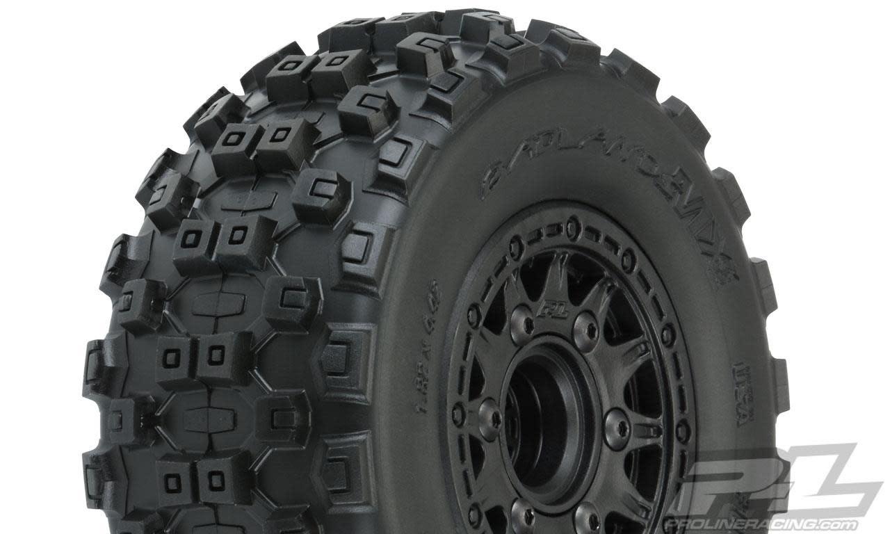 "Badlands MX SC 2.2""/3.0"" M2 (Medium) All Terrain Tires Mounted on Raid Black-1"