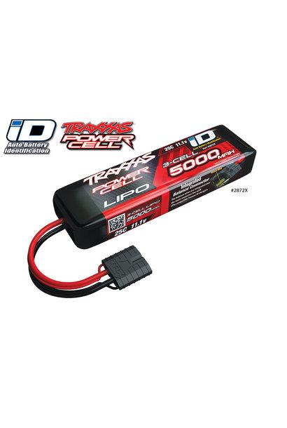 Power Cell LiPo 5000mAh 11.1V 3S 25C ,ID, TRX2872X