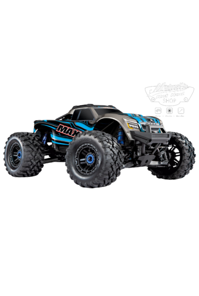 Traxxas Maxx 1/10 Scale 4WD Brushless Electric Monster Truck, VXL-4S, TQi - BLUE TRX89076-4-BLUE