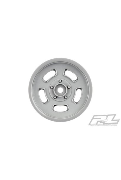 """Slot Mag Drag Spec 2.2"""" Stone Gray Front Wheels (2) for Slash 2wd & AE DR10 (using 2.2"""" 2WD Buggy Front Tires), PR2792-05"""
