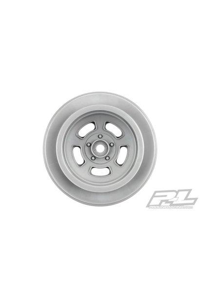 "Slot Mag Drag Spec 2.2""/3.0"" Stone Gray Wheels (2) for Slash 2wd and AE DR10 Rear & Slash 4x4 Front or Rear, PR2793-05"