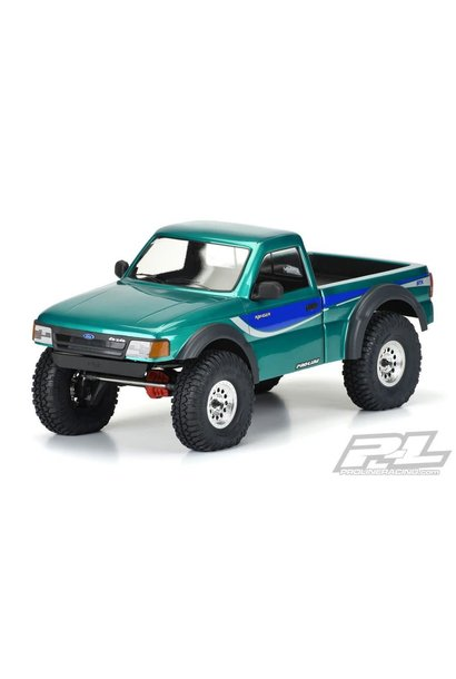 """1993 Ford Ranger Clear Body Set with Scale Molded Accessories for 12.3"""" (313mm) Wheelbase Scale Crawlers, PR3537-00"""