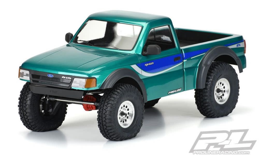 """1993 Ford Ranger Clear Body Set with Scale Molded Accessories for 12.3"""" (313mm) Wheelbase Scale Crawlers, PR3537-00-1"""