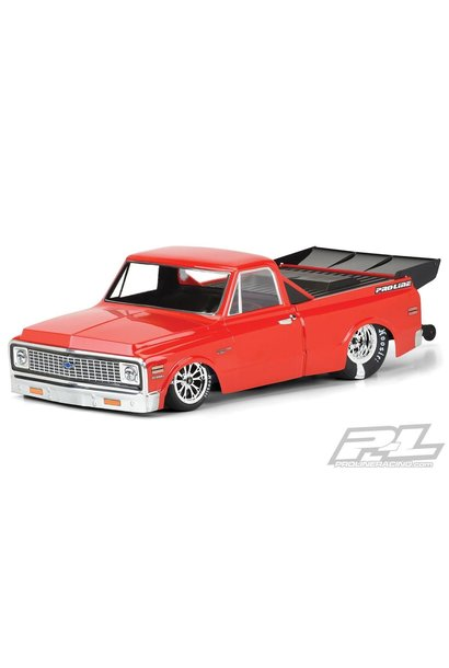 1972 Chevy C-10 Clear Body for Slash 2wd Drag Car & AE DR10 (with trimming) PR3557-00