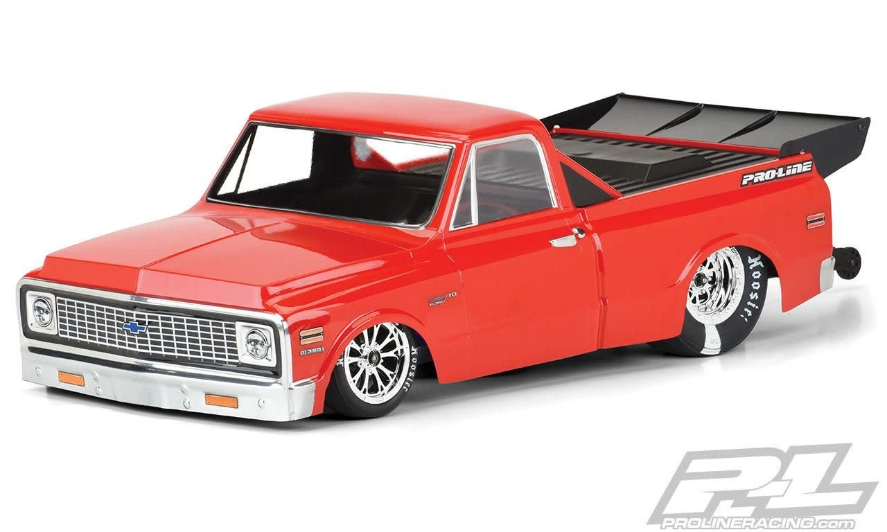 1972 Chevy C-10 Clear Body for Slash 2wd Drag Car & AE DR10 (with trimming) PR3557-00-1