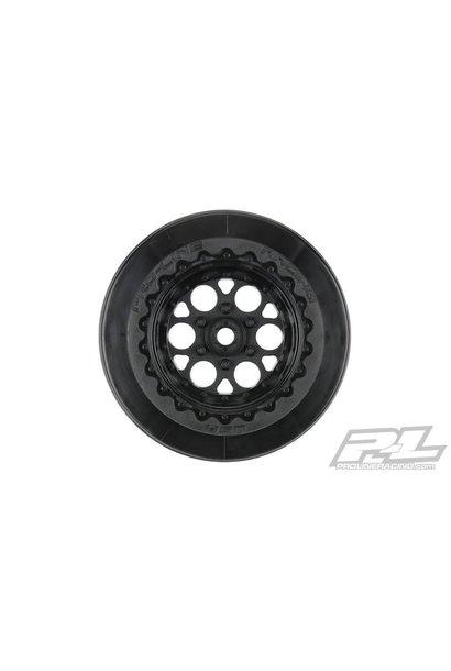 "Showtime+ Wide SC / Standard SC 2.2""/3.0"" Black Wheels (2) for Losi® 22S™ No Prep Drag Car, Slash® 2wd and AE DR10 Rear & Slash® 4x4 Front or Rear PR2794-03"