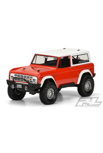 """1973 Ford Bronco Clear Body for 12"""" Crawlers"""