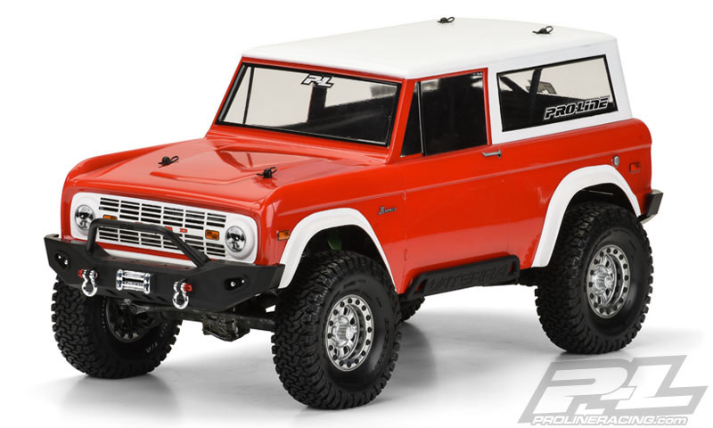 """1973 Ford Bronco Clear Body for 12"""" Crawlers-1"""