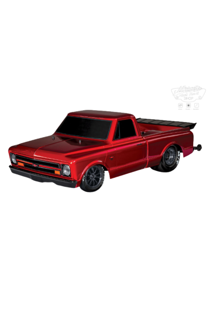 Traxxas Drag Slash: 1/10 Scale 2WD Drag Racing Truck with TQi Traxxas Link Enabled 2.4GHz Radio System & Traxxas Stability Management (TSM), Red TRX94076-4RED