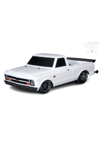 Traxxas Drag Slash: 1/10 Scale 2WD Drag Racing Truck with TQi Traxxas Link Enabled 2.4GHz Radio System & Traxxas Stability Management (TSM), White TRX94076-4WHT