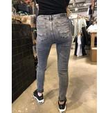 Alan Cross Jeans Skinny Fit High Waist Grey