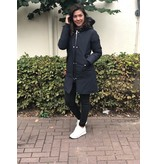 Airforce Airforce Double Zip Fishtail Parka Dark Navy Blue