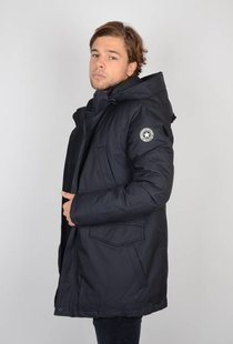Airforce Slimfit Herringbone Parka Dark Navy Blue