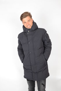 Airforce Chuck Parka Technical Softshell Dark Navy Blue
