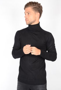Petrol Basic Turtleneck Black