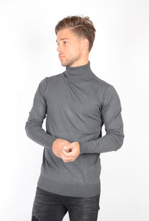 Petrol Basic Turtleneck Raven Grey