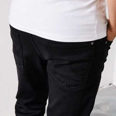 Petrol Seaham Coated Slim Fit Black