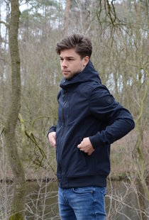 Softshell Jacket Chestpocket Summer Softshell Dark Navy Blue