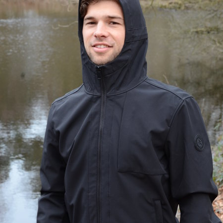 Airforce Softshell Jacket Chestpocket Summer Softshell True Black