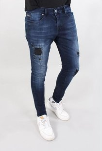 Ultimo Jeans Dark Blue Destroyed
