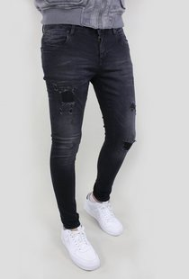 Ultimo Jeans Black Destroyed