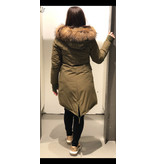 Airforce Fishtail Long Parka Dark Olive Green