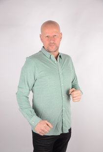 Knitted Melange Shirt Medium Green 22009904
