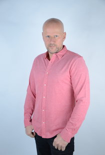 Knitted Melange Shirt Pompeian Red 22009904