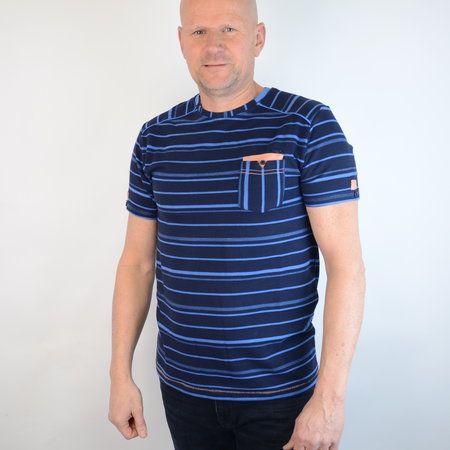 Gabbiano T-shirt Round Neck Navy 15215