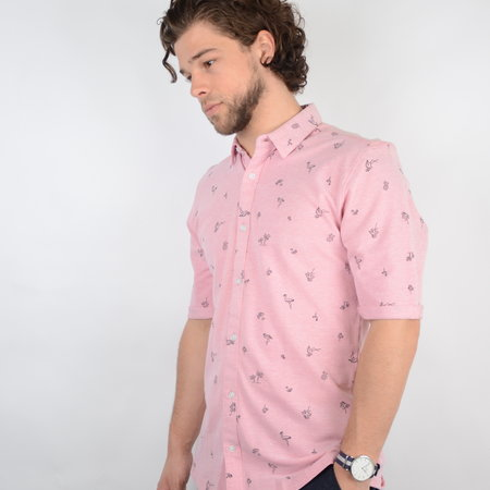 Only & Sons Cuton SS Knitted Pique Aop Shirt