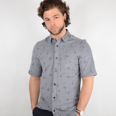Only & Sons Cuton SS Knitted Pique Aop Shirt Black