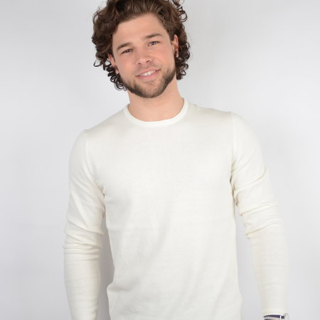 Only & Sons Onsgarson Life 12 Wash Crew Knit Noos White