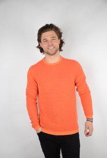 Knitwear R-Neck Fiery Coral (KWR206)