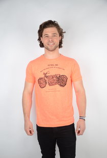 T-shirt SS R-Neck Fiery Coral (TSR649)