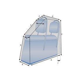 Bootzeil Schutzhülle Bootssitze 2-Sitzer